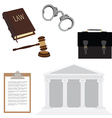 Law symbols vector image