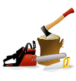 Set of woodcutter tools vector image