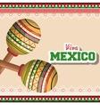 icon maracas mexican music graphic vector image
