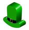 3d model of an irish hat vector image