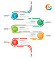 abstract 5 steps road timeline infographic vector image vector image