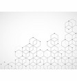 abstract geometric background with cubes vector image vector image