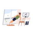 active male doing sport exercise watch online vector image vector image