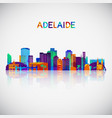 adelaide skyline silhouette in colorful geometric vector image vector image