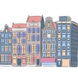 Amsterdam Multi-colored houses vector image vector image
