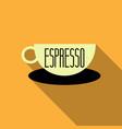 authentic italian espresso vintage coffee poster vector image vector image