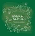 back to school inscription on chalkboard vector image vector image