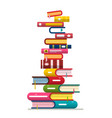 books stack isolated on white background vector image vector image