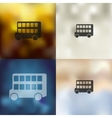 bus double decker icon on blurred background