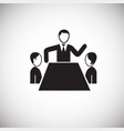 business meeting on white background vector image vector image
