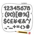 Cartoon Doodle Numbers vector image vector image
