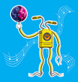 character is a robot with a speaker in body vector image