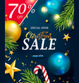christmas sale web banner holiday background vector image vector image