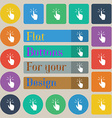 Click here hand icon sign Set of twenty colored vector image