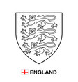 coat arms england vector image