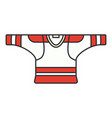color icon hockey rugby baseball uniform vector image vector image
