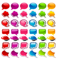 Colorful Speech Bubble Icons vector image vector image