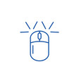 computer mouse line icon concept computer mouse vector image vector image