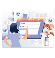 contact us feedback customer support help concept vector image