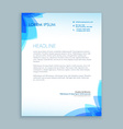 creative business letter design vector image vector image
