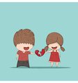 Cute cartoon boy and girl couple vector image vector image