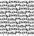 cute panda pattern background vector image vector image