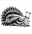 decorative silhouette of a peacock vector image