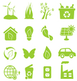 Eco and environment icon set vector image vector image