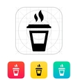 Ending coffee cup icon vector image