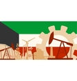 Energy and Power icons set with Kuwait flag vector image vector image