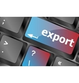 export word on computer keyboard key button vector image