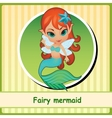 Fairy mermaid - cute girl closeup vector image vector image