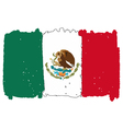 Flag of Mexico handmade vector image