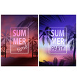 flyer template with tropical background vector image