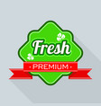 freshness logo for farm market and store vector image vector image