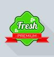 freshness logo for farm market and store vector image