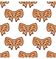 Gingerbread bows seamless background vector image