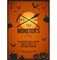 Halloween Monster Party Poster Invitation vector image vector image