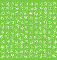 hand drawn seamless pattern with red glyphs vector image vector image