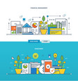 investments the financial management vector image