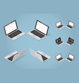 isometric modern laptop set vector image