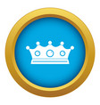 jewelry crown icon blue isolated vector image vector image