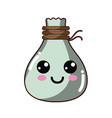 kawaii cute happy cloth bag vector image vector image