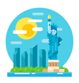 Liberty statue flat design landmark vector image