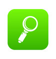 loupe icon green vector image vector image