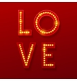 Love Retro light banner Valentines card vector image