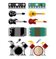 music instruments flat silhouettes icons isolated vector image