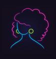 neon profile picture faceless avatar vector image