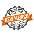 new mexico round ribbon seal vector image vector image
