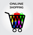 online shopping design eps10 graphic vector image vector image